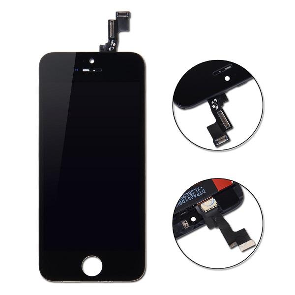 iphone 5s čierny lcd displej + dotykové sklo